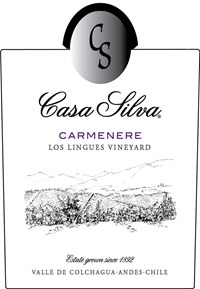 Carmenere, Los Lingues Vineyard 2015 Label