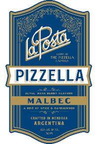 Pizzella Malbec 2016 Label