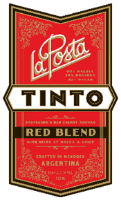 Tinto Red Blend 2014 Label