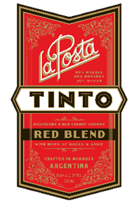 Tinto Red Blend 2018 Label