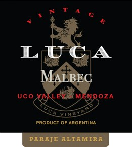 Malbec, Paraje Altamira 2014 Label