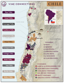 Cabernet Sauvignon, Los Lingues Vineyard 2014 Regional Map