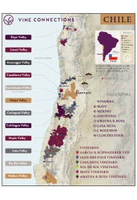 Carmenere, Los Lingues Vineyard 2016 Regional Map