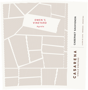 Single Vineyard Owen's Cabernet 2014 Label