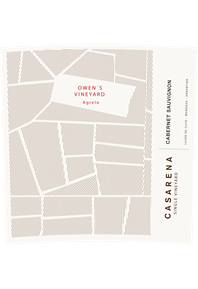 Single Vineyard Owen's Cabernet 2017 Label