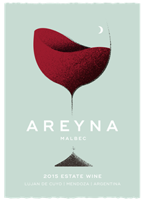 Areyna Malbec 2015 Label