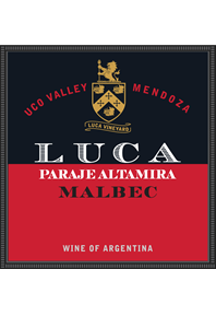 Malbec, Paraje Altamira 2017 Label