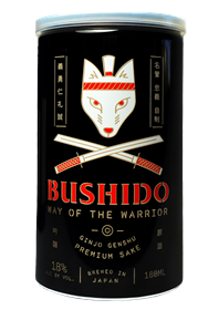 Way of the Warrior Sake Can Bottle Shot