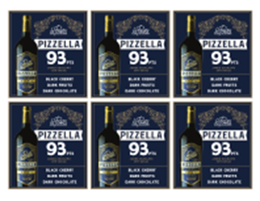 Pizzella Malbec 2017 Shelf Talker