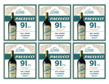 Paulucci Malbec 2017 Shelf Talker