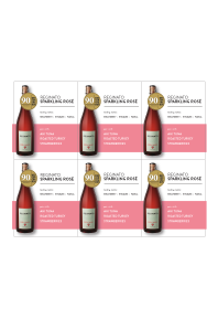 Sparkling Rosé of Malbec NV Shelf Talker