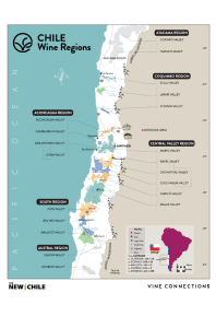 Carmenere, Los Lingues Vineyard 2018 Regional Map