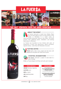 La Fuerza Rojo Vermouth Product Sheet