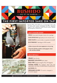 Way of the Warrior On Tap Product Sheet