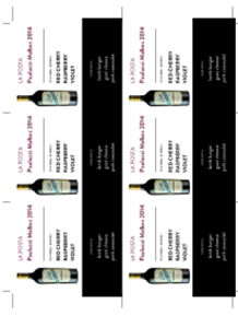Paulucci Malbec 2014 Shelf Talker