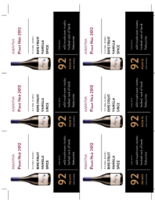 Pinot Noir 2012 Shelf Talker