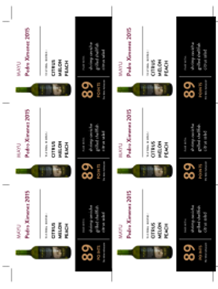 Pedro Ximenez 2015 Shelf Talker
