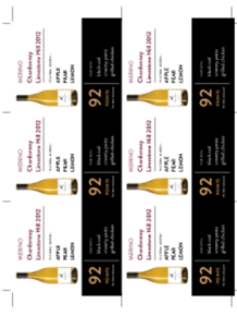 Chardonnay  Limestone Hill 2012 Shelf Talker