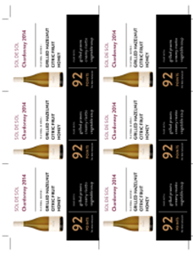 Chardonnay 2014 Shelf Talker