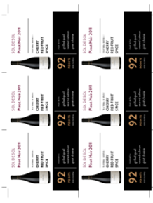 Pinot Noir 2011 Shelf Talker