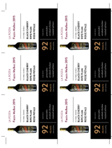 Fazzio Malbec 2015 Shelf Talker