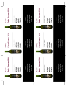 Pedro Ximenez 2016 Shelf Talker