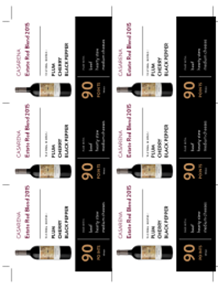 Estate Red Blend 2015 Shelf Talker
