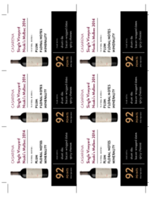 Single Vineyard Naoki's Malbec 2014 Shelf Talker