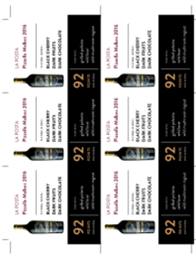 Pizzella Malbec 2016 Shelf Talker