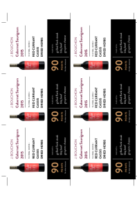 Cabernet Sauvignon 2015 Shelf Talker