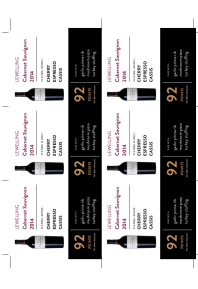 Cabernet Sauvignon 2014 Shelf Talker