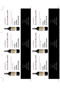Estate Red Blend 2016 Shelf Talker