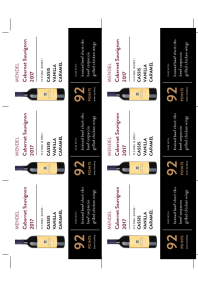 Cabernet Sauvignon 2017 Shelf Talker