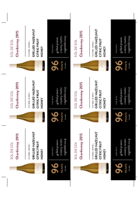 Chardonnay 2015 Shelf Talker