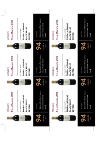Finca Remota  2016 Shelf Talker