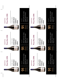 Pinot Noir 2016 Shelf Talker