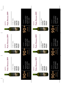 Pedro Ximenez 2019 Shelf Talker