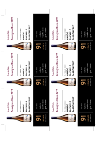 Sauvignon Blanc 2019 Shelf Talker