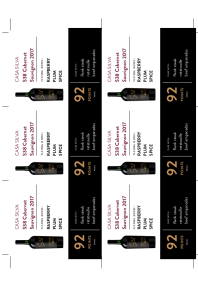 S38 Cabernet Sauvignon 2017 Shelf Talker