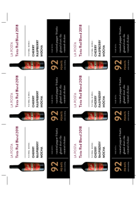 Tinto Red Blend 2018 Shelf Talker