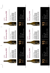 Chardonnay 2018 Shelf Talker