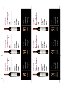 Cabernet Sauvignon 2018 Shelf Talker
