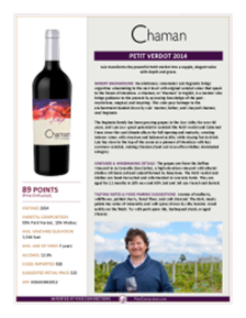 Petit Verdot 2014 Product Sheet