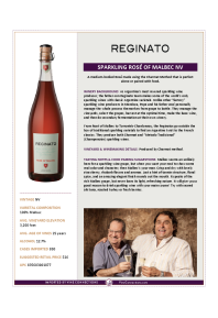 Sparkling Rosé of Malbec NV Product Sheet