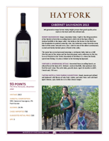 Cabernet Sauvignon  2013 Product Sheet