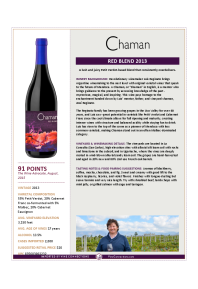Red Blend 2013 Product Sheet
