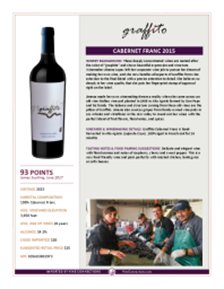 Cabernet Franc 2015 Product Sheet