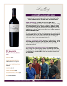 Cabernet Sauvignon 2014 Product Sheet
