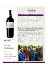 Cabernet Sauvignon Wight Vyd 2014 Product Sheet