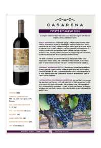 Estate Red Blend 2016 Product Sheet